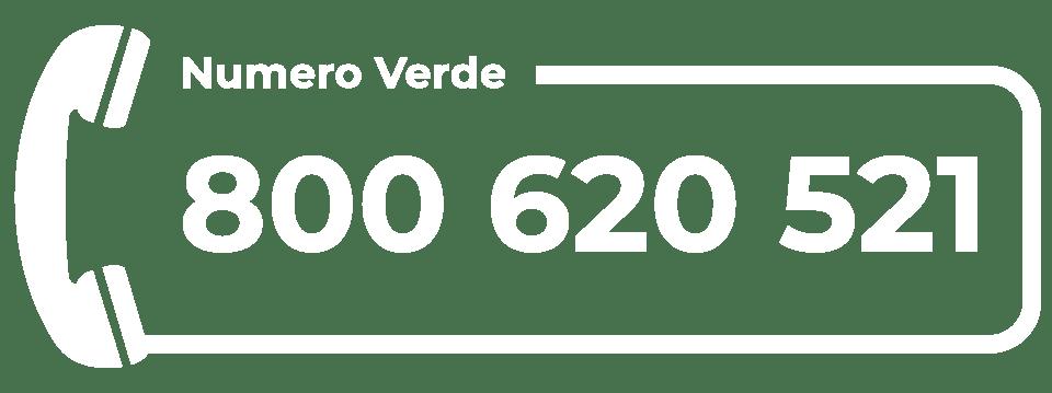 numero verde Corte Pavese - bianco
